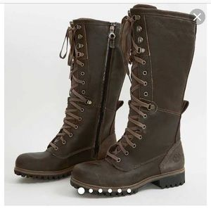 Knee high timberland insulated boots